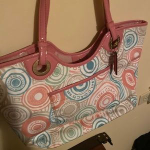Coach Purse pink and pastels